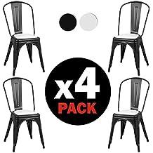 Due Home Lot De 4 Chaises Style Tolix Avec Structure Mtallique 465 X