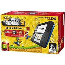 Nintendo 2DS: Console, Nero/Blu + Super Mario Bros 2 [Bundle Special Edition] [Importación Italiana]