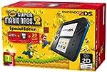 Nintendo 2DS Console, Nero/Blu + Supe...