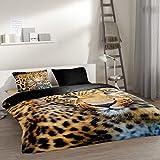Pure 4835-M bettwäsche mit Leopard, 200 x 135 x 0,5 cm, schwarz -