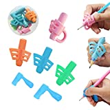 Best Pens For Lefties - 6 Pcs Pencil Grips, Dsaren Pen Grippers Ergonomic Review