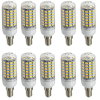 Aoxdi 10X LED Corn bulbs E14 10W, Warm White, 69 SMD 5730 E14 LED Corn Lamp, AC220-240V