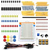 ZYX Breadboard Kit, Resistor/capacitor/breadboard Kit With Box, IOT Module Starter Kit for Arduino