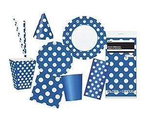 Unique Party- Party Kit, Color azul rey (63817)