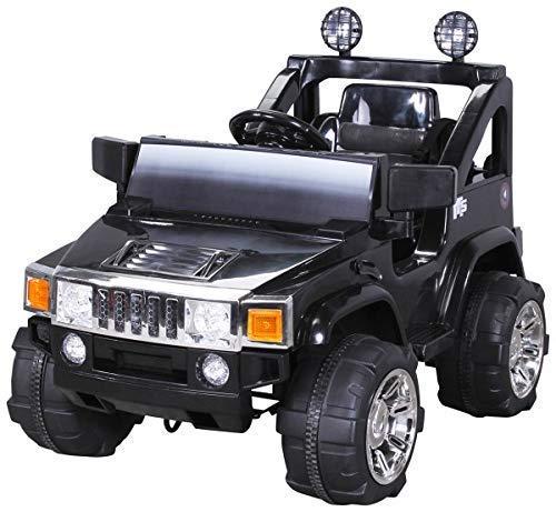 Elektro Kinderauto Hummer Jeep A30 mit 2 x 35 Watt Motor Elektro Kinderauto Kinderfahrzeug in mehreren Farben (schwarz)