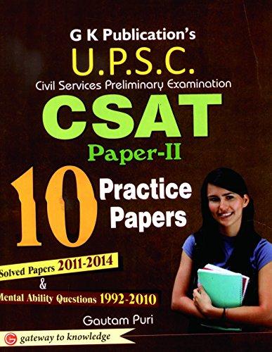 CSAT 10 Practice Papers General Studies Paper - 2