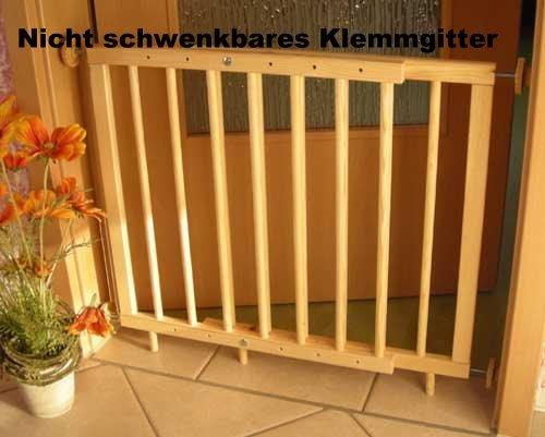 Türschutzgitter Treppenschutzgitter 70-110cm zum klemmen (nicht schwenkbar)