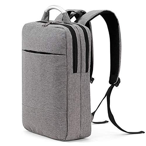 Melodycp Reisetasche Schultasche Unisex Collection Rucksack Slim Business Laptop Backpack Wasserdicht für Arbeit, Büro, Schule, Männer und Frauen - Grau -