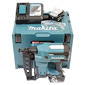 Makita DBN600RTJ MAKPAC – Clavadora (64 mm, 18 V, 5 Ah, 2 baterías y cargador), Color:, Size