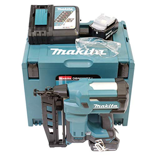 Makita DBN600RTJ Cloueur + 2 Batteries 18V 5Ah Li-ION + Coffret...