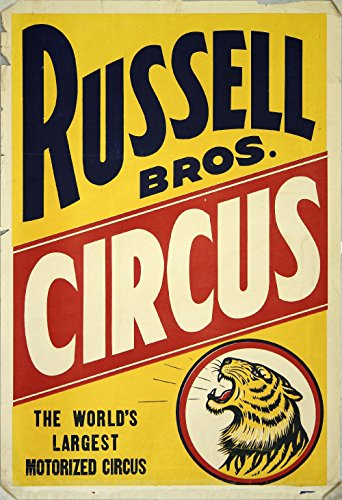 Spiffing Prints Russell Bros Circus Vintage Circus Poster - Extra Large - Matte Print