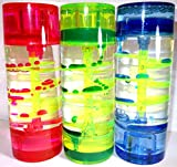 3er Set Liquid Timer (pink, grün, blau), flüssige Spiral-Sandsuhr