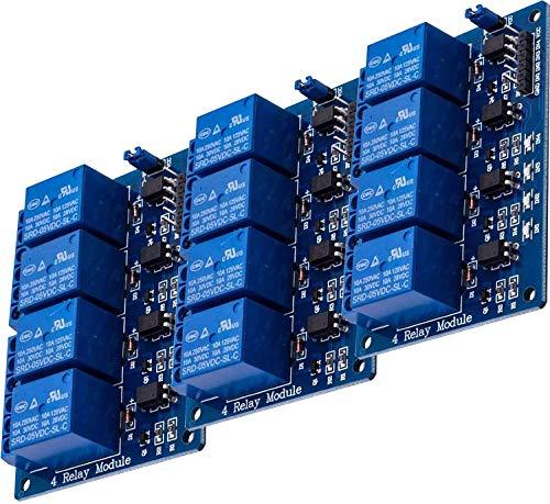 AZDelivery 3 x 4-Relais Modul 5V mit Optokoppler Low-Level-Trigger für Arduino