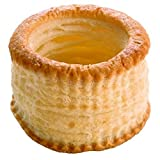 Pidy Vol-Au-Vent Round Shape Puff Pastry Shell Golden Brown Colour - 24 Pieces