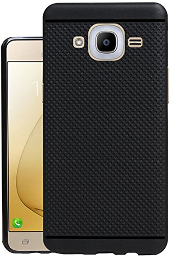 Jkobi 360* Protection Premium Dotted Designed Soft Rubberised Back Case Cover for Samsung Galaxy J2 (2016) -Black
