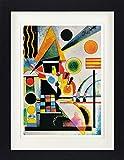Vassily Kandinsky Poster De Collection Encadré - Balancement, 1925 (40 x 30 cm)