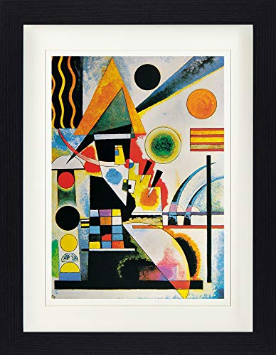 1925 Poster (1art1 113913 Wassily Kandinsky - Balancement, 1925 Gerahmtes Poster Für Fans Und Sammler 40 x 30 cm)