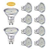 Ampoule LED GU10, 5W Équivalent Halogene 35W, 50W, Blanc Chaud 2800K, Spot Lampe Douille GU10, 480LM AC 230V, 100° Grand Angle...
