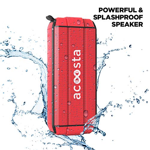 ACOOSTA Bold 370, IPX5 Waterproof, Portable Wireless Bluetooth Speaker with Bass, 3600 mAh Battery (Upto 24hrs of Playback), True Wireless Stereo, Built in Mic, SD Card & Aux