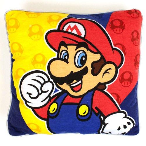 Super Mario Bros - cojín de Super Mario - decorativo y mullido, con la licencia oficial de Nintendo, 33 x 33 cm