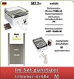 AXT-Electronic Set 3bs - Hühnerklappe mit Batterien, Mechanische Zeitschaltuhr, manuelles Schließen möglich, Enten