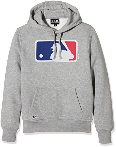 New Era Mlb Logo, Sweat-Shirt à Capuche Homme, Gris, Small (taille Fabricant: Small)