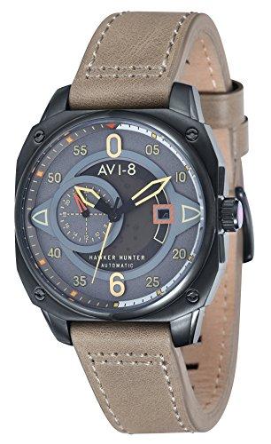 Desconocido Cazador de halter gris/beige Relojes de AVI-8