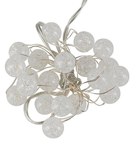 Idena LED Lichterkette für innen, mit Timer, 20er, Kristalloptik, warm weiß, 31838