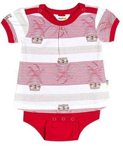 JOHA - Body-Shirt (Kombination aus T-Shirt und Body) Baby Mädchen Kurzarm COSY in rot Größe 68-74 (4-9 Monate)