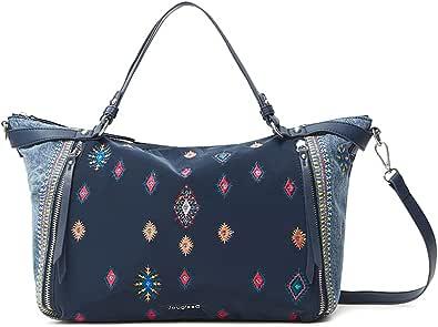 Desigual Womens BOLS_July TRIBU LIB Hand Bag, Blue, One Size