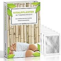 10 Detox Pflaster · Vitalpflaster zum Körper entgiften · Bambuspflaster mit Turmalin · Fußpflaster zum entschlacken · Detox Pflaster für den Fuß