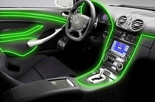 Éclairage d'ambiance Inion 1 x 3 m - Vert fluo - Adaptateur/inverseur 12 V Bande lumineuse à LED pour éclairage d'intérieur moderne.12 V pour voitures, véhicules individuels, caravanes.Un design élégant et de qualité.