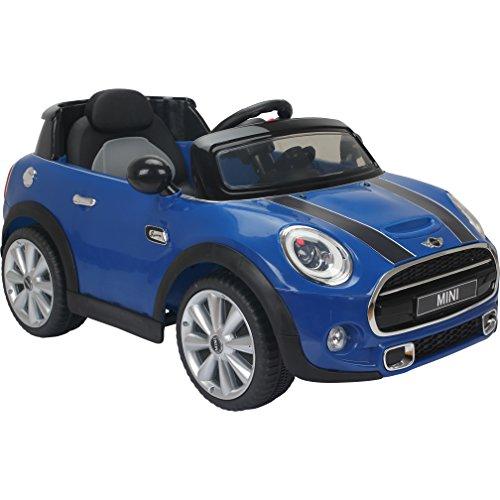 Licensed Mini Cooper S 12v child's Ride on Car - Blue by Mini Cooper