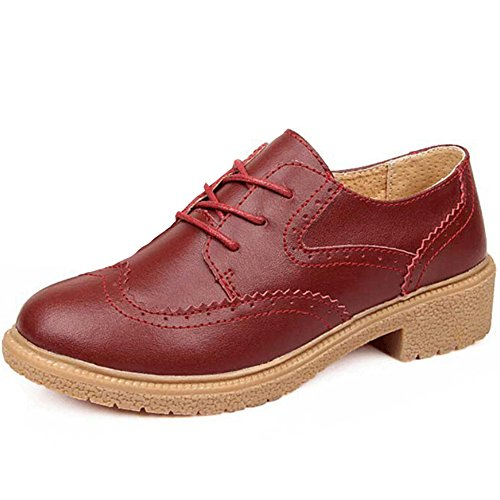 Hattie , Chaussures à lacets femme Rouge