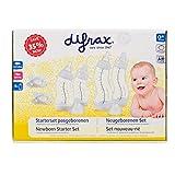Difrax 603 Das Baby-Starterkit Boy mit 3 x S-Babyflasche, 2 x Sauger und 2 x Schnuller