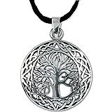 Anhänger Lebensbaum Keltischer Baum des Lebens 925er Silber Schmuck mit Lederhalsband - Heilung - 5503