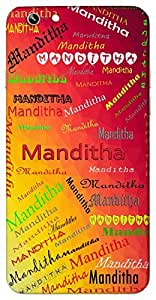 Manditha (Popular Girl Name) Name & Sign Printed All over customize & Personalized!! Protective back cover for your Smart Phone : Lenovo S-820