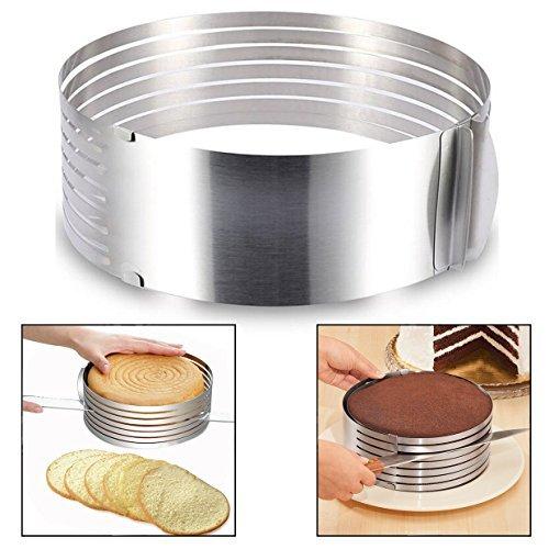 Itian Edelstahl Kuchen 6.8'inch Ring Cutter Layer Kuchen Slicer Mousse Schneiden Kuchen Rostfreier