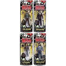 Walking Dead Comic Book Series 5: Neegan, Glenn, Shane, & Lydia Action Figure Set of 4 by Unknown