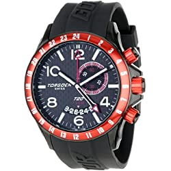 Torgoen Swiss Herren-Armbanduhr T20306 Analog plastik schwarz T20306