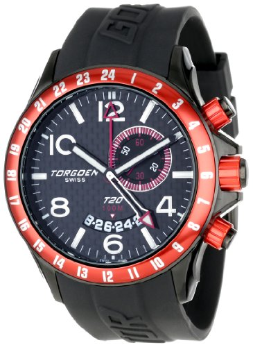 Torgoen Swiss T20306 - Reloj analógico para hombre, correa de plástico color negro