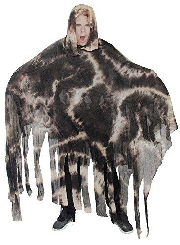 Foxxeo 40271 I Schlamm Geist Kostüm für Erwachsene und Kinder | Kindergröße 152/158, 164/170 | Herren-Größe M/L, XL, XXL, XXXL | Herren Damen Halloween Umhang Geisterkostüm Horror Monster Ghost, Größe:XXXL