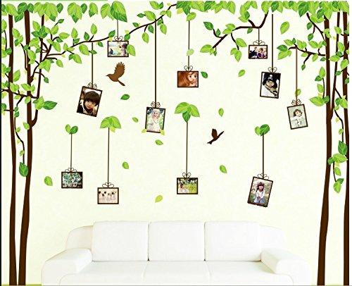 ... Grün Baum Wandaufkleber Rückläufig Laub Und Fliegend Vögel Art  Aufkleber Tanzen Schmetterling Vinyl Zuhause Dekor DIY, Tapeten ...