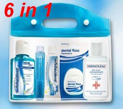 kit-viaggio-aereo-travel-set-bagaglio-a-mano-liquidi-beauty-case-con-spazzolino-dentifricio-filo-int