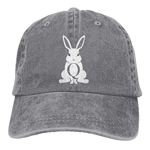 bbit Plain Einstellbare Cowboy Cap Denim-Hut für Frauen und Männer ()