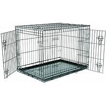 Happy Pet Fold Flat jaula de transporte para perros, plegable, grande
