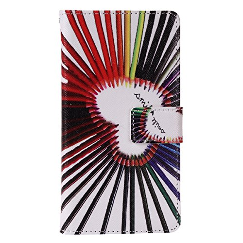 Aeeque iPhone 5/5S/5C/SE/6 plus/6S,, Samsung Galaxy S3/S4/S5/S6/S6/S6 Edge Edge J5/plus/nota 5/S7/S7/Edge G360/G530/i9060, Sony Xperia M4/Z5 mini/Z5, P8 Huawei Lite pittura, disegno elegante Custodia  Pencil Colorful
