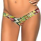 huihong Damen Sommer Brasilianischen Slip Print Bikini Unteren String Badestrand Badeanzug Badebekleidung G-String UnterwäSche Baden Tanga