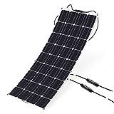 ALLPOWERS Pannello Solare 100W 18v 12v con MC4 Caricabatteria Solare Monocristallino per RV, Barca, Cabina, Tenda, Auto, Rimorchio
