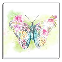 "Evans Lichfield Country Floral Butterfly Blue Pink Canvas Wall Art Picture 40cm - 16"" by Canvas"